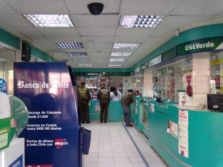 Asaltaron una farmacia Cruz Verde en el centro de San