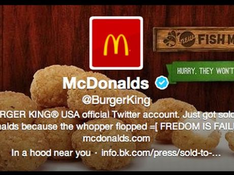 hackers se colaron en el twitter de burger king y pusieron propaganda de mcdonalds. Black Bedroom Furniture Sets. Home Design Ideas