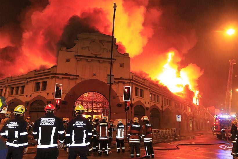 Un incendio destruy el mercado de temuco for Casa de musica temuco