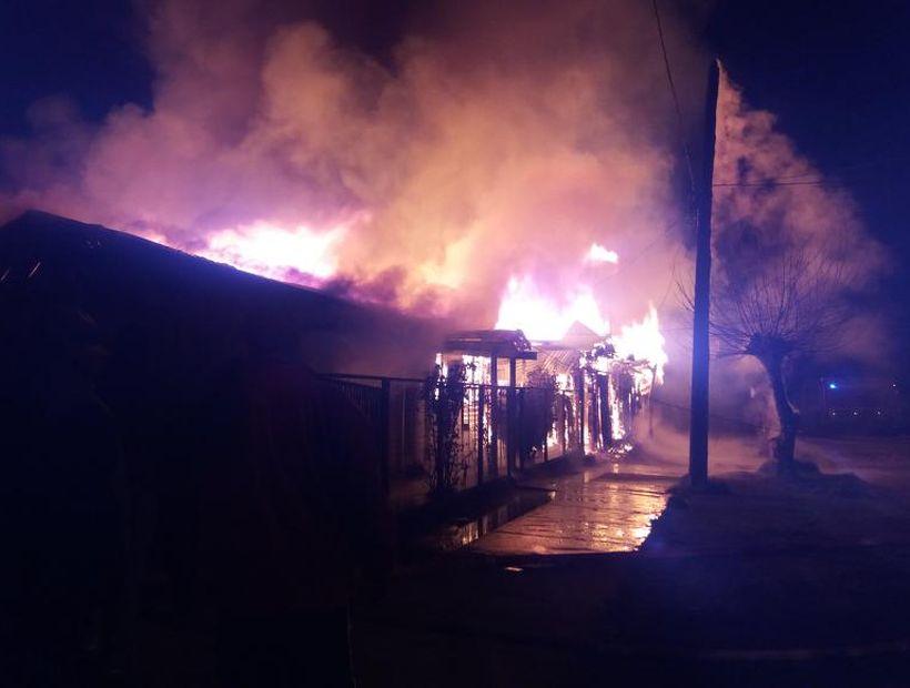 Cuatro casas afectadas y 15 damnificados dejó un incendio en Quilleco