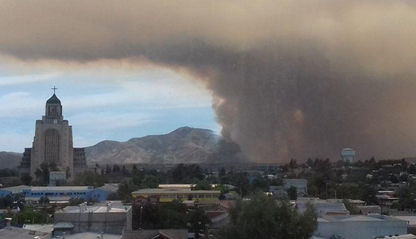 Incendio en rinconada de maip 130 hombres y cuatro for Viveros en santiago maipu