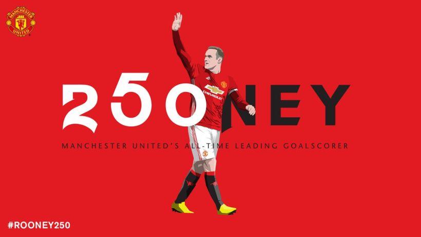 Wayne Rooney se convirtió en el máximo goleador de la historia del Manchester United