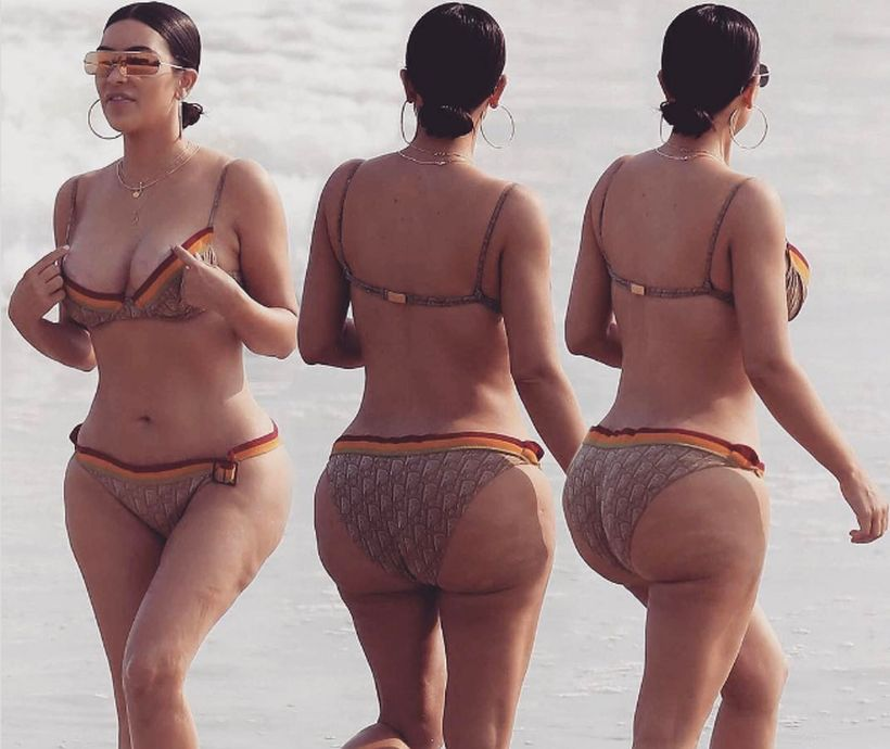 Kim Kardashian dijo que retocaron sus fotos con celulitis para perjudicarla