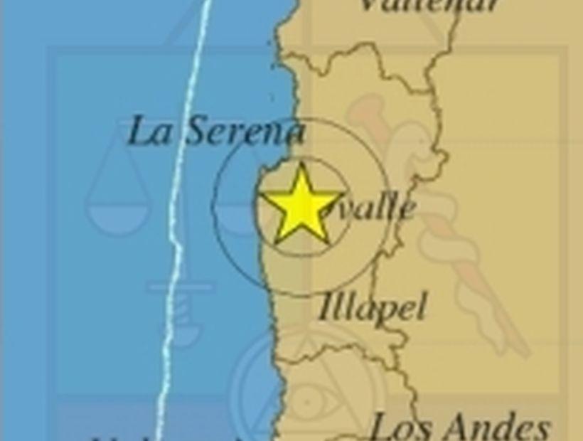 Sismo de 5,1° Richter con epicentro en Ovalle se sintió en tres regiones
