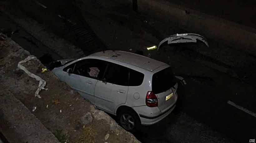 Conductor ebrio perdió el control de su auto y cayó al río Mapocho