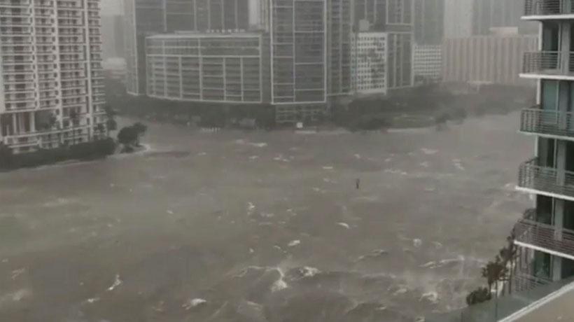 [VIDEO] Residente de Miami capturó el devastador paso del huracán Irma por la ciudad