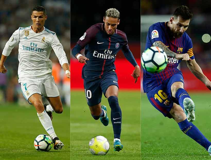 Ronaldo, Messi y Neymar pugnarán por el premio