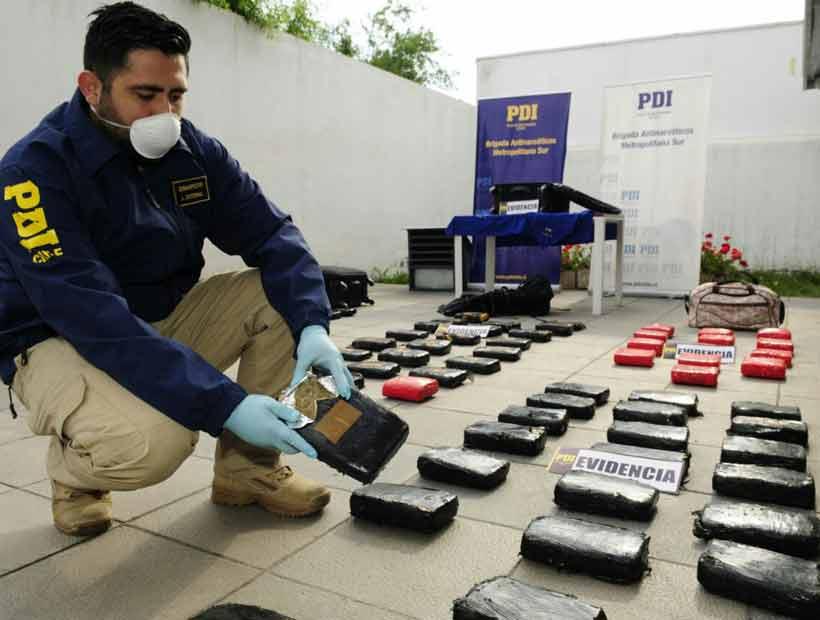 La PDI incautó más de 125 kilos de marihuana que se iba a vender en Valparaíso y Santiago