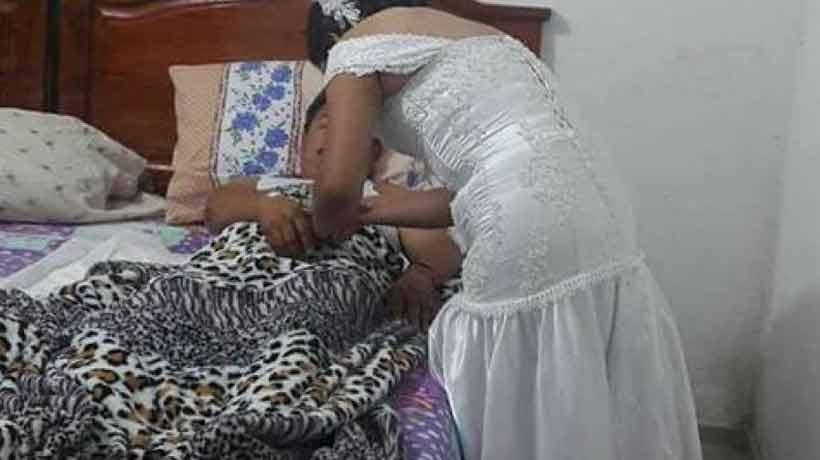 Enfermera interrumpió su boda para atender a un paciente