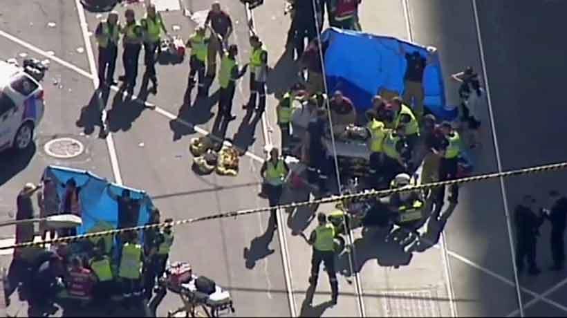 Dos detenidos tras un atropello masivo en Melbourne con al menos 19 heridos
