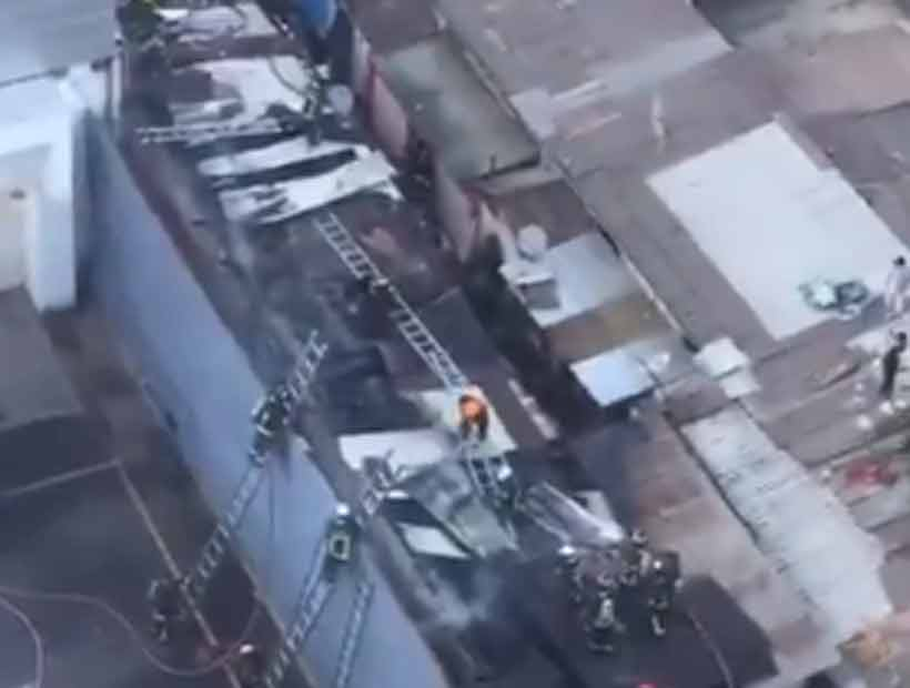 Un incendio afectó a un cité en Santiago