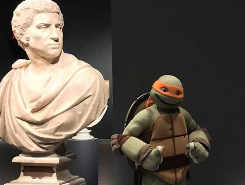 El MET usó una Tortuga Ninja para promover exposición de Miguel Ángel