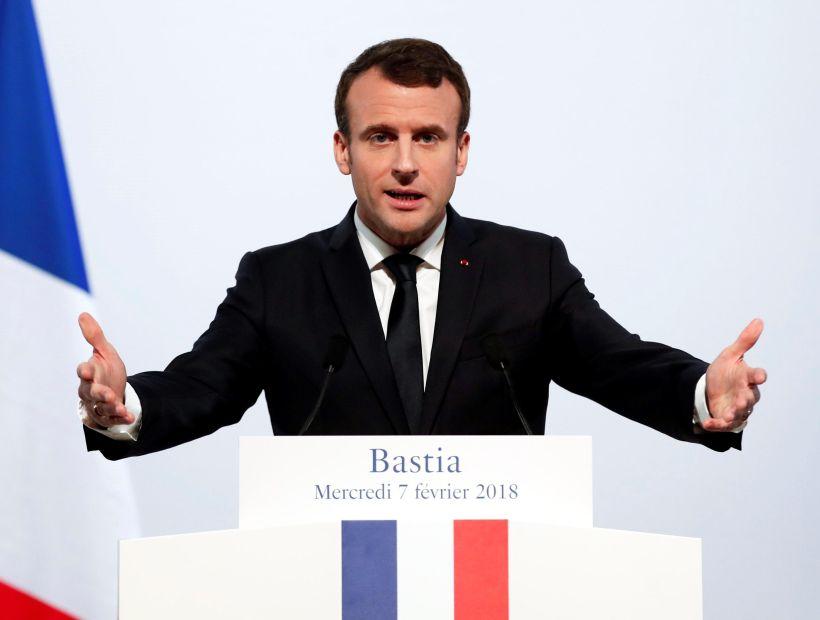 Macron avisó que Francia atacará en Siria si se prueban los ataques químicos
