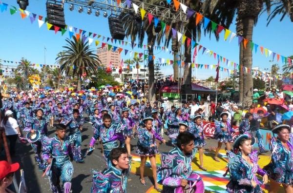 En Fotos El Primer D 237 A Del Carnaval Andino De Arica Con
