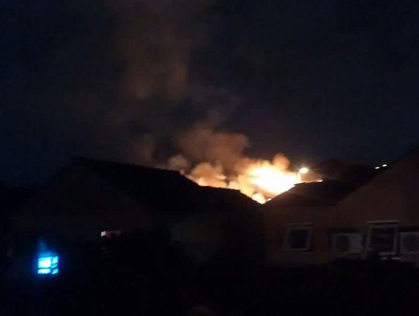 Video Incendio Afecto Cerro Renca Tras Espectaculo De Fuegos